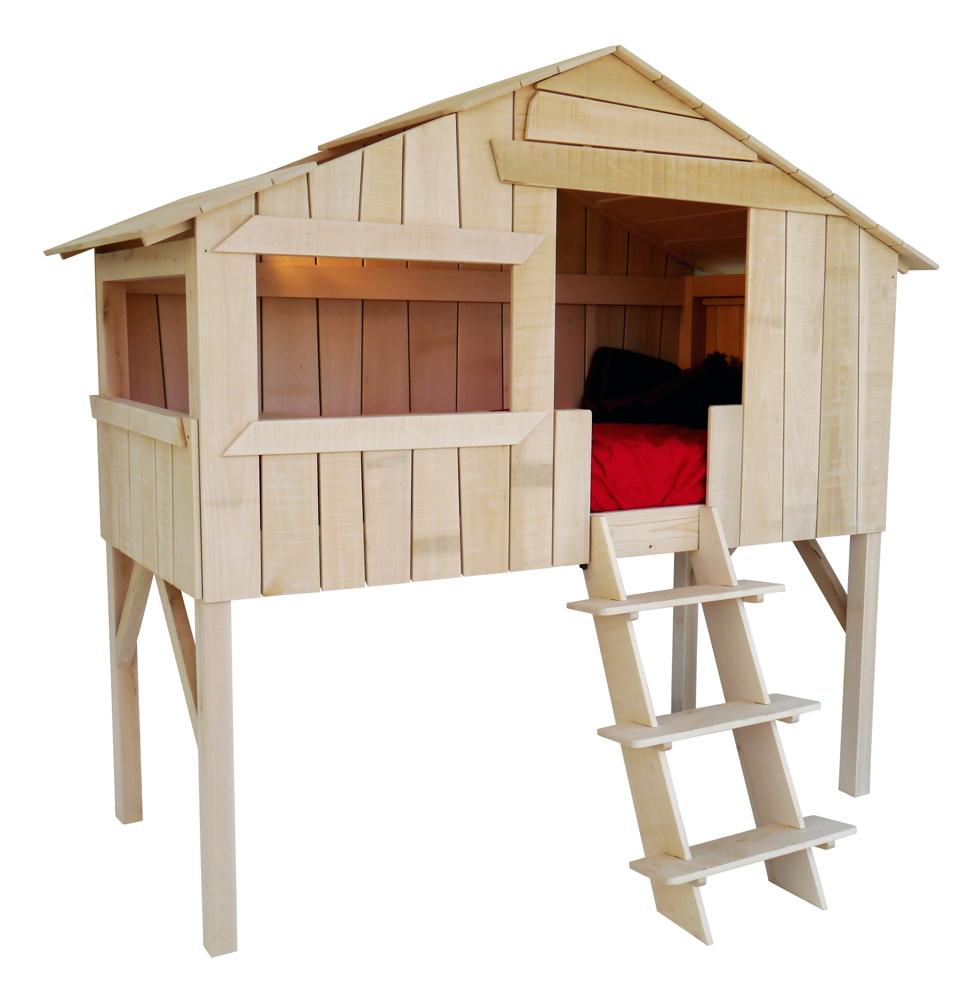 Lit cabane pour vos enfants couleurs bois le blog - Lit sureleve pour enfant ...