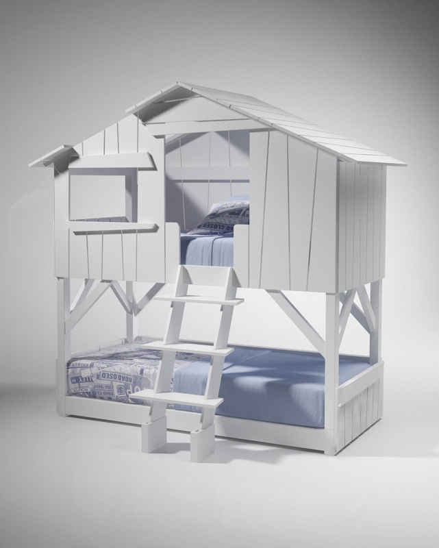 lit cabane pour vos enfants couleurs bois le blog. Black Bedroom Furniture Sets. Home Design Ideas